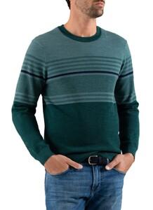 Maerz Merino Striped Pullover Ivy
