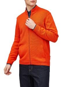 Maerz Merino Superwash Zipper Cardigan Vest Brique