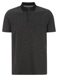 Maerz Mini Dot Faux Uni Polo Poloshirt Black