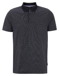 Maerz Mini Dot Faux Uni Polo Poloshirt Navy