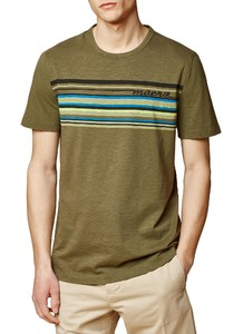 Maerz Multi Striped Logo T-Shirt Olive Paste