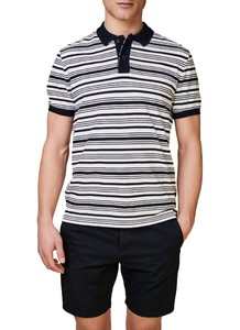 Maerz Multi Striped Polo Polo Navy