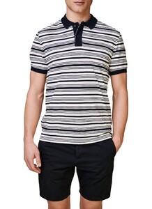 Maerz Multi Striped Polo Shirt Poloshirt Navy