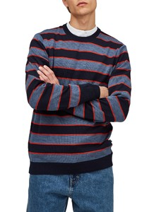 Maerz Multi Striped Pullover Pullover Pitch Blue