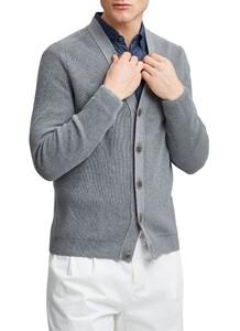 Maerz Organic Cotton Button Cardigan Vest Mercury Grey