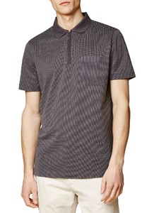 Maerz Polo Fine Dotted Structure Poloshirt Anthra Mouliné
