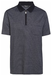 Maerz Polo Fine Dotted Structure Poloshirt Navy