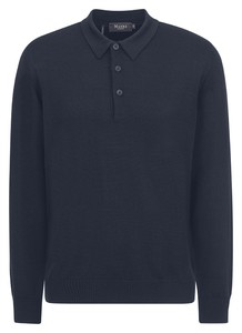 Maerz Polo Lange Mouw Pullover Vintage Blue