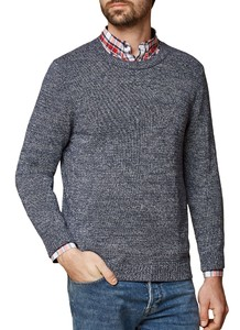 Maerz Pullover Cotton R-Neck Pullover Navy