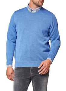 Maerz Round Neck Merino Superwash Pullover Cool Vista