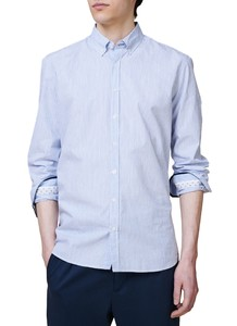 Maerz Striped Cotton Button Down Overhemd Star Blue