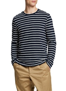 Maerz Striped Long Sleeve T-Shirt T-Shirt Navy