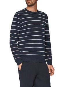 Maerz Striped Maritime Pullover Navy