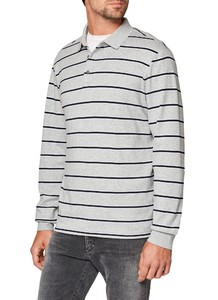 Maerz Striped Polo Poloshirt Stone Grey