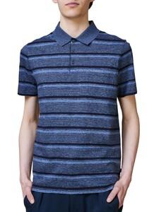 Maerz Striped Polo Shirt Polo Navy
