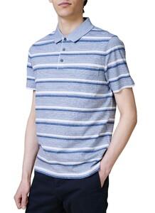 Maerz Striped Polo Shirt Poloshirt Pure White