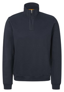 Maerz Sweat Pullover Zip Collar Trui Navy