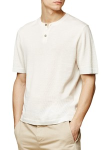 Maerz T-Shirt Cotton Wool T-Shirt Clear White