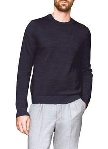 Maerz Two-Tone Pullover Pullover Navy