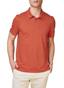 Maerz Two Tone Stripe Polo Candy Apple
