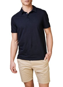 Maerz Two Tone Stripe Polo Navy
