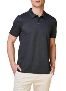 Maerz Two Tone Stripe Poloshirt Light Grey
