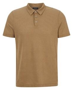 Maerz Two Tone Stripe Poloshirt New Camel