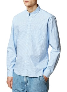 Maerz Uni Button Down Overhemd Star Blue