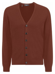 Maerz Uni Button Merino Superwash Cardigan Copper