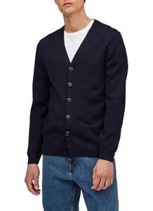 Maerz Uni Button Merino Superwash Cardigan Navy