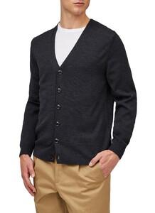 Maerz Uni Button Merino Superwash Vest Antraciet