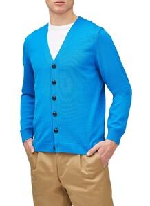 Maerz Uni Button Merino Superwash Vest Blue Hydrangea