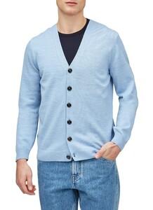 Maerz Uni Button Merino Superwash Vest Dolphine