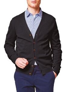 Maerz Uni Button Merino Superwash Vest Zwart
