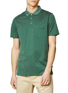 Maerz Uni Contrast Collar Poloshirt Spanish Green