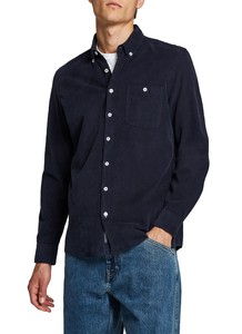 Maerz Uni Cotton Button Down Overhemd Navy