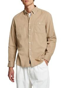 Maerz Uni Cotton Button Down Shirt Light Owl