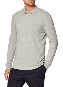 Maerz Uni Cotton Elastane Poloshirt Ginger Grey