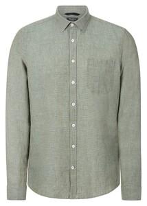 Maerz Uni Cotton Linen Mix Shirt Light Eucalyptus