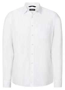 Maerz Uni Cotton Linen Mix Shirt Pure White
