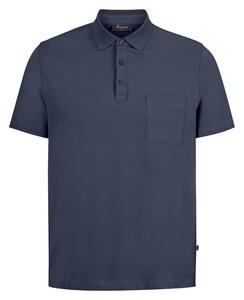 Maerz Uni Cotton Polo Indigo