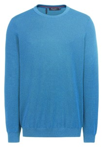 Maerz Uni Cotton Round Neck Trui Bondi Blue