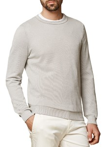 Maerz Uni Cotton Round Neck Trui Concrete