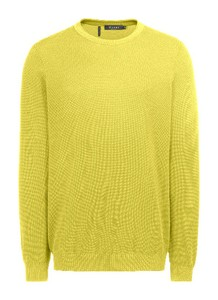 Maerz Uni Cotton Round Neck Trui Lemon Juice