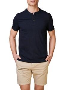 Maerz Uni Henley T-Shirt T-Shirt Navy