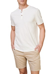 Maerz Uni Henley T-Shirt T-Shirt Off White
