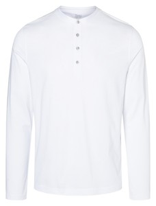 Maerz Uni Long Sleeve Buttons T-Shirt Pure White