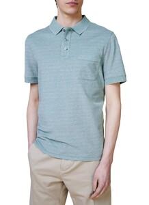 Maerz Uni Melange Polo Poloshirt Spanish Green