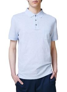 Maerz Uni Melange Polo Poloshirt Star Blue