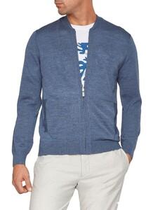 Maerz Uni Merino Extrafine Cardigan Nimes Blue